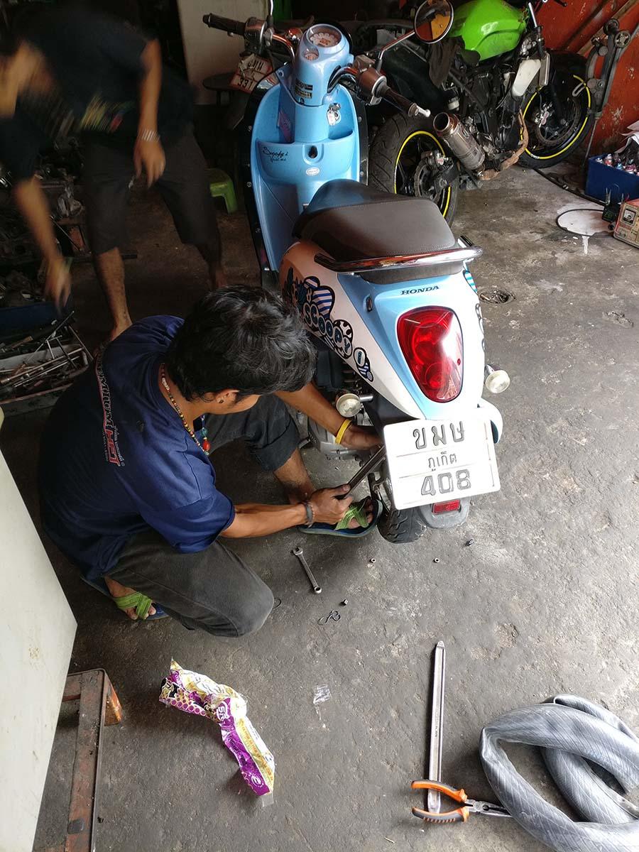 摩托车修车