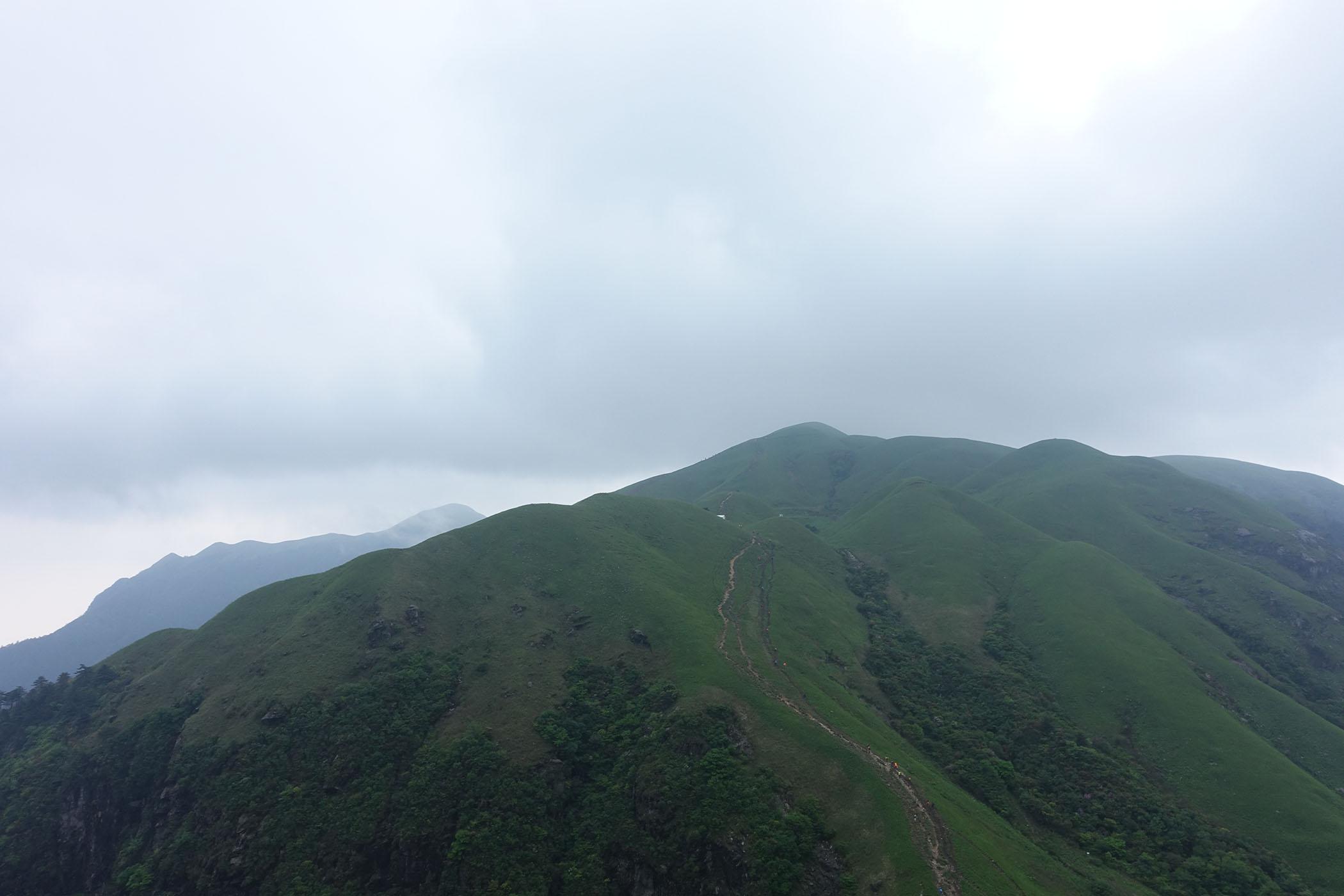 武功山的山脉