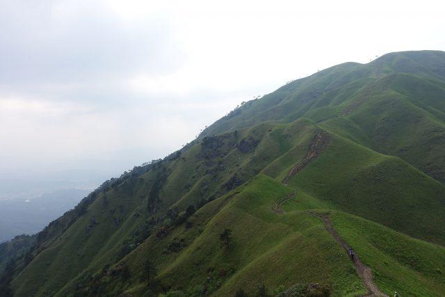 武功山的陡坡