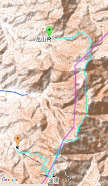 武功山穿越线路图