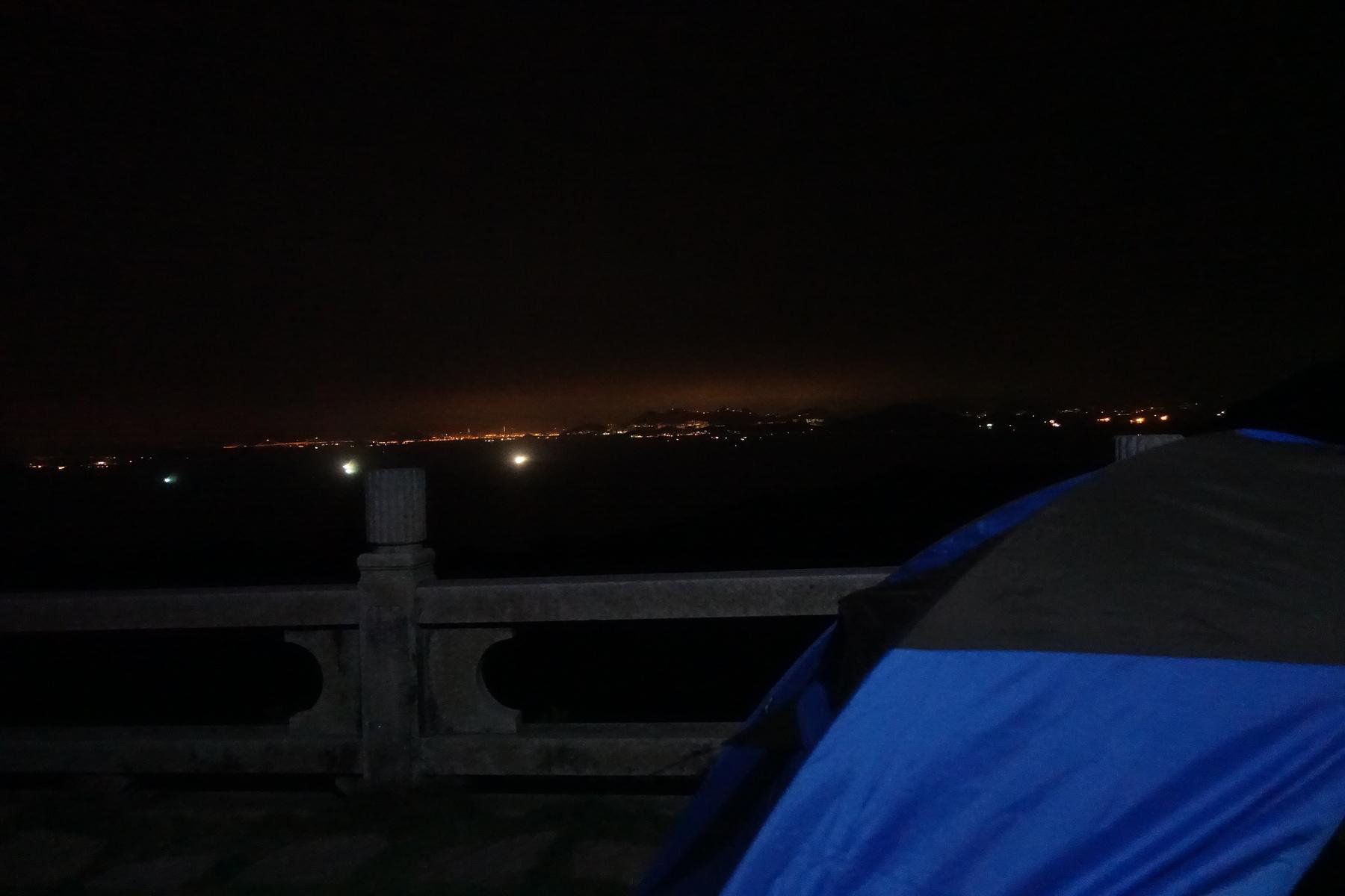 外伶仃岛 海边山顶露宿的夜晚